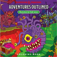 Dungeons & Dragons: Adventures Outlined Coloring Book