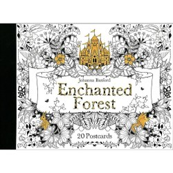 Enchanted Forest Postcard Coloring Book