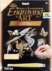 Engraving Art - Gold Foil: Baby Dragon
