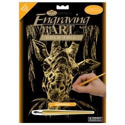 Engraving Art - Gold Foil: Giraffe