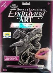 Engraving Art - Holo Foil: Sharks