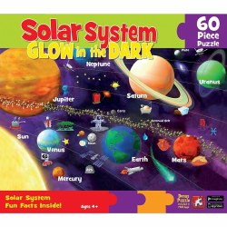 Glow-in-the-Dark Solar System Puzzle 60pc