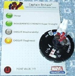 Heroclix Avengers 003 Captain Britain