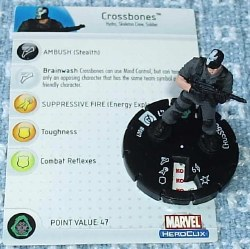 Heroclix Avengers 007 Crossbones