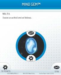 Heroclix Infinity Gauntlet S106 Mind Gem