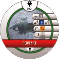 Heroclix Pacific Rim B001 Fighter Jet