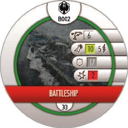 Heroclix Pacific Rim B002 Battleship