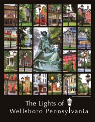 The Historic Lights of Wellsboro Poster