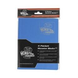 Monster 4-Pocket Binder: Aqua Blue