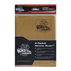 Monster 4-Pocket Binder: Gold