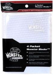 Monster 4-Pocket Binder: Holofoil White