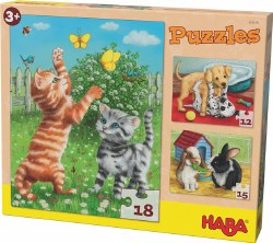 HABA Puzzle: Pets Multipack