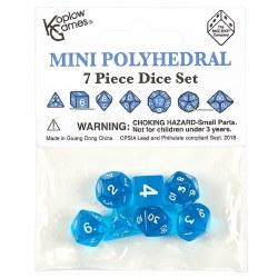 Poly Dice 7 Piece Mini: Blue