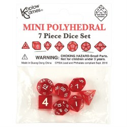 Poly Dice 7 Piece Mini: Red