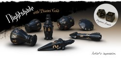 Poly Hero Dice: The Rogue 7-Dice Set - Nightshade and Thieve's Gold