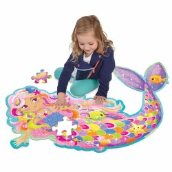 Shimmery Magical Mermaid Floor Puzzle