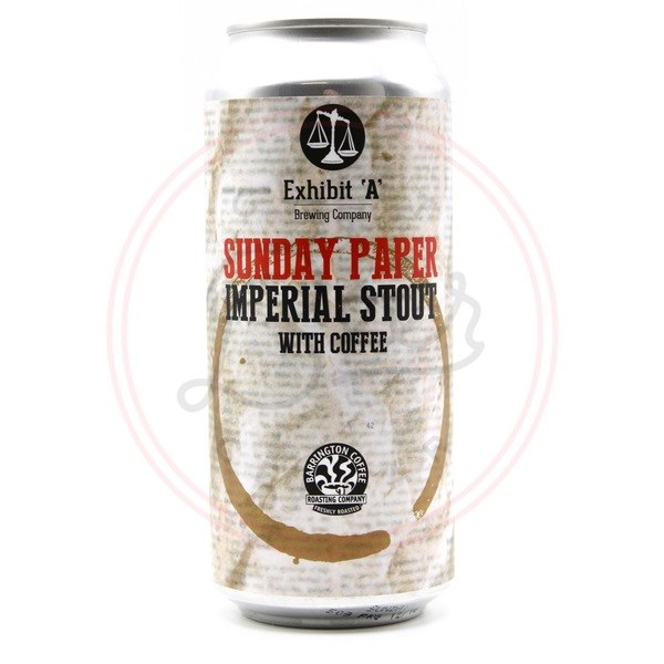 Sunday Paper - 16oz Can