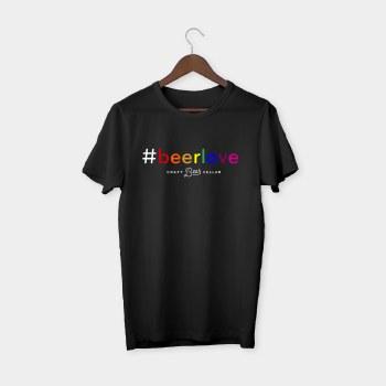 #beerlove T-shirt Sm Black