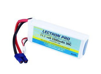 Lectron Pro 11.1V 3500mAh 30C with EC3-type connctor