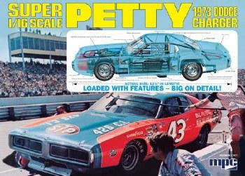 1/16 1973 Richard Petty Dodge Charger Plastic Model Kit