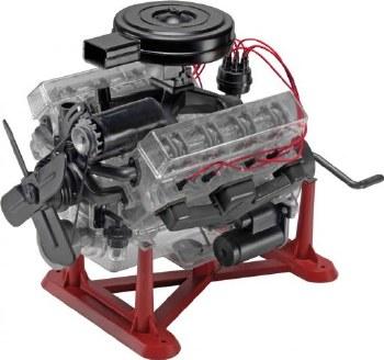 1/4 Visible V-8 Engine