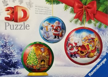 Christmas 3D Puzzle Ball  56pc