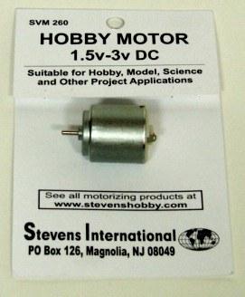 Hobby Motor - 1.5v - 3v DC - Round - for slower RPM