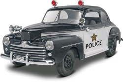 1/25 '48 Ford Police Coupe 2 'n 1 Plastic Model Kit