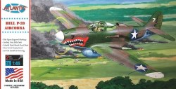 1/46  WWII P39 Aircobra Shark Mouth Fighter Plastic Model Kit
