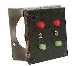 HO Switch Control Panel with Mounting Frame (2switches)