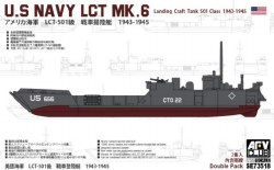 1/350 USN Landing Craft Tank MK.6, 501 Class Plastic Model Kit