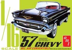 1/16 1957 Chevy Bel Air Convertable Plastic Model Kit