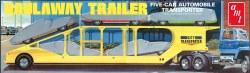 1/25 5-Car Haulaway Trailer Plastic Model Kit