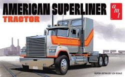 1/24 1998 American Superliner Semi Tractor Plastic Model Kit