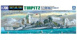 1/700 German Battleship Tirpitz Plastic Model Kit