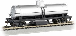 Unlettered Silver Track-Cleaning Single -Dome Tank Car