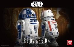 Star Wars: 1/12 R2-D2 & R5-D4 Plastic Model Kit