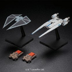 Star Wars: 1/144  U-Wing Fighter & Tie Striker Plastic Model Kit