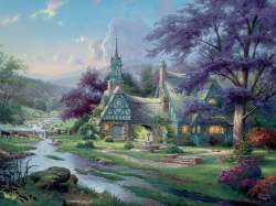 Kinkade: Clockwater Cottage 1500pc