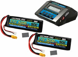 Power Pack #14 - ACDC-10A Charger + 2 Batteries - 11.1V 5200mah 50C