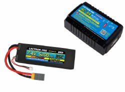 Power Pack #28: 3A Charger & 7.4V 5200mAh 35C w/60XT Lipo