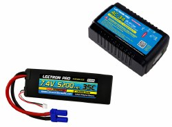 Power Pack #31: 3A Charger & 7.4V 5200mAh 35C w/EC5 Lipo