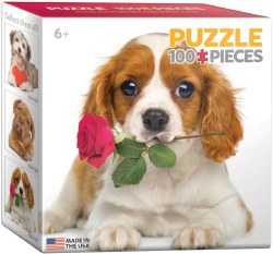 Dog with Rose - 100pc