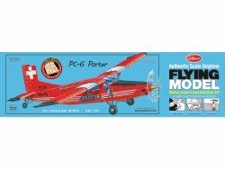 1/24 PC-6 Porter - Flying Balsa Wood Construction Model Kit