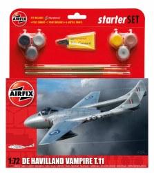 1/72 De Havilland Vampire T11 Starter Set