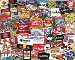 American Beer Labels 1000pc