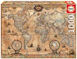 Antique world map - 1000pc