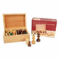 """4"""" Wooden Chess set in box"""