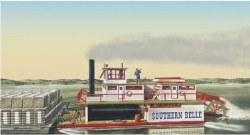 1/64 Southern Belle Paddle Wheel Steamship Plastic Model Kit