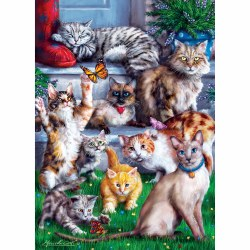 Butterlfy Chasers - Cats - 1000pc